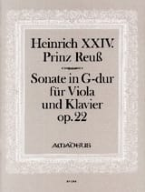Sonate in G-dur op. 22 24, Prince Reuss Heinrich laflutedepan