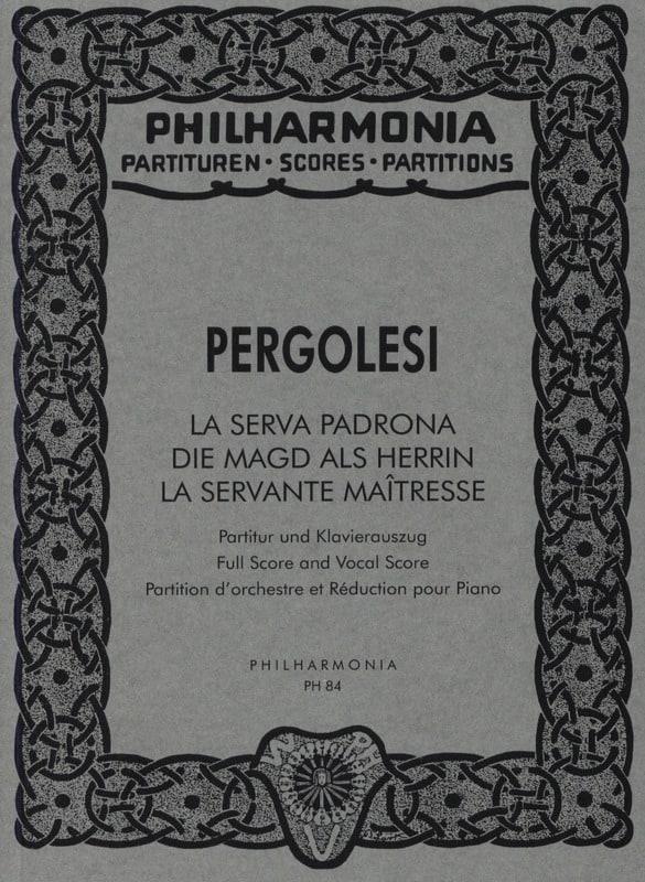 La Serva padrona - Partitur - PERGOLESE - Partition - laflutedepan.com