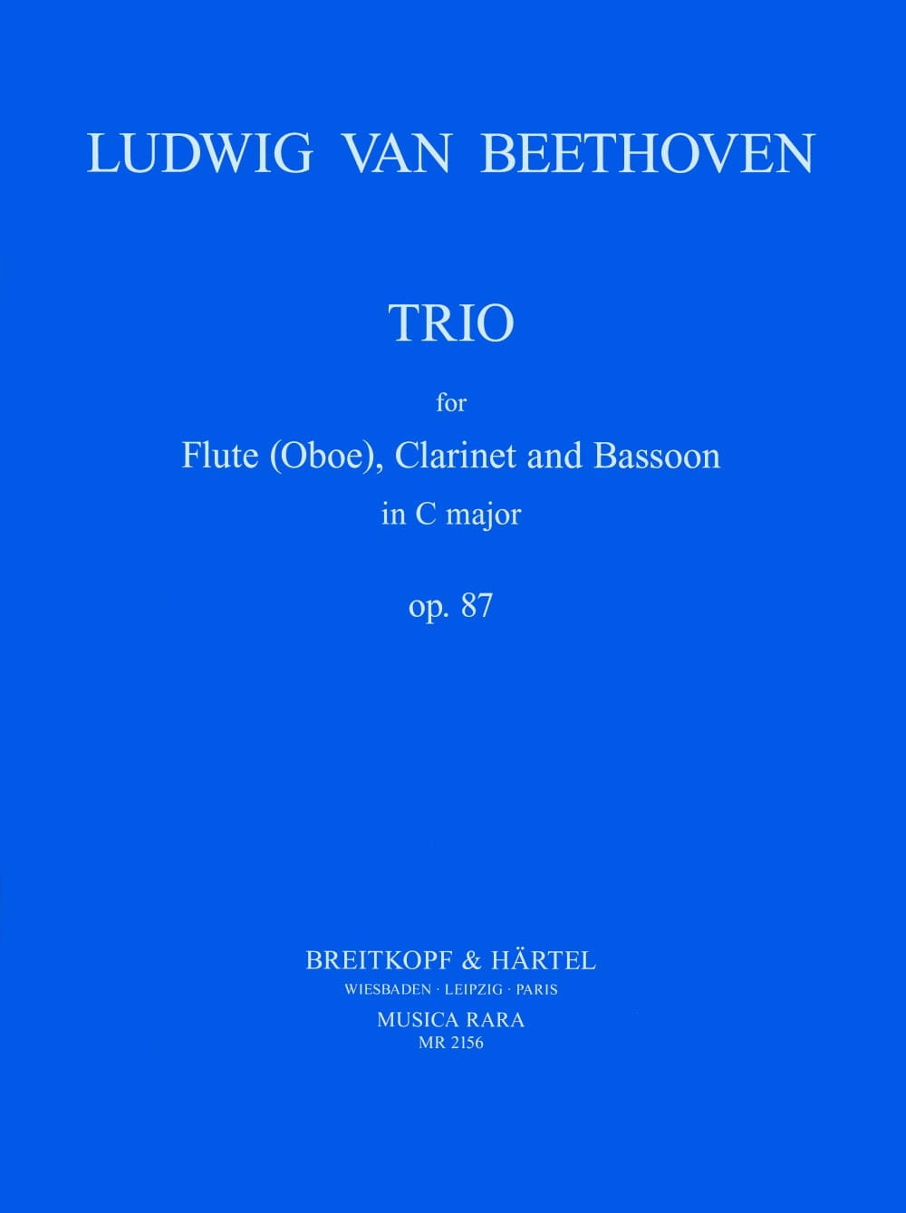 Trio op. 87 -Flute clarinet bassoon - Score + Parts - laflutedepan.com