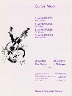 6 Miniatures - Carlos Marin - Partition - Guitare - laflutedepan.com