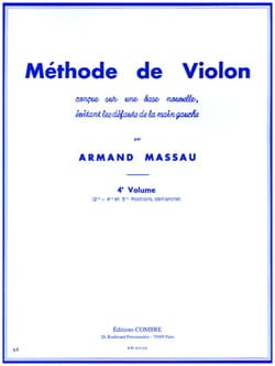 Méthode de Violon Volume 4 Armand Massau Partition laflutedepan