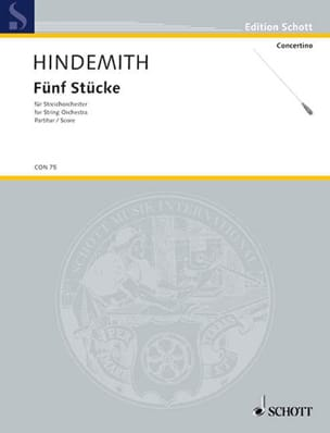 5 Stücke für Streichorchester - Partitur HINDEMITH laflutedepan
