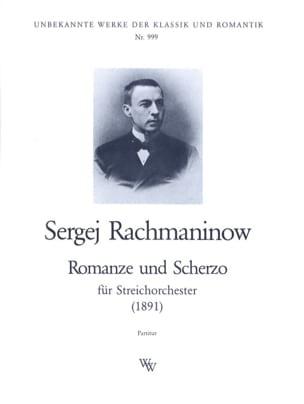 Romanze und Scherzo - Partitur RACHMANINOV Partition laflutedepan