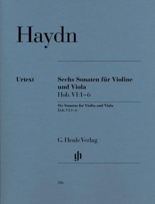 Six sonates Hob. VI:1-6 pour violon et alto HAYDN laflutedepan