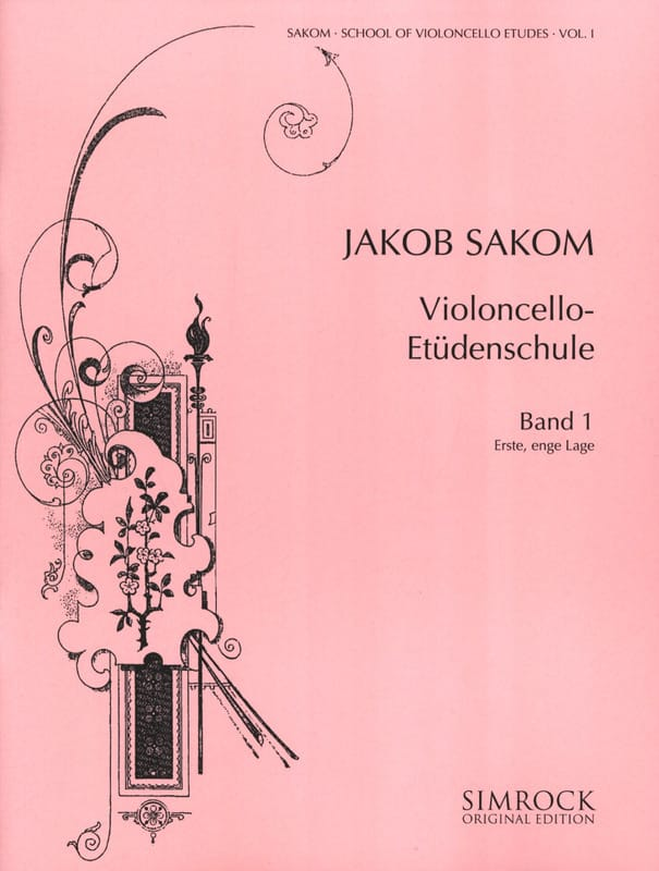 Violoncello Etüden-Schule, Heft 1 - Jakob Sakom - laflutedepan.com