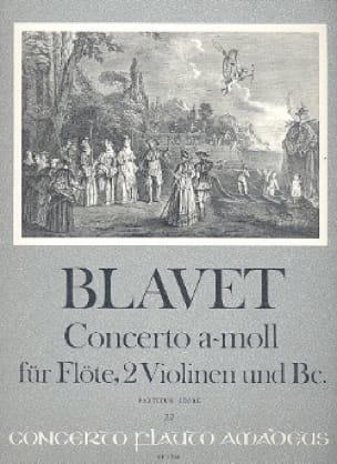 Concerto a-moll f. Flöte - Partitur - Michel Blavet - laflutedepan.com