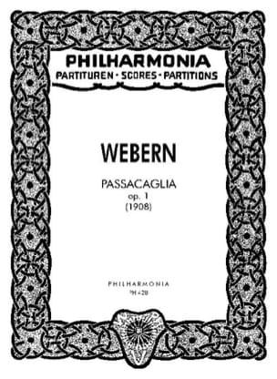 Passacaglia op. 1 - Partitur WEBERN Partition laflutedepan