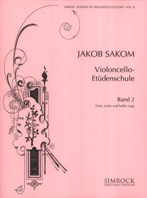 Violoncello Etüden-Schule, Heft 2 Jakob Sakom Partition laflutedepan