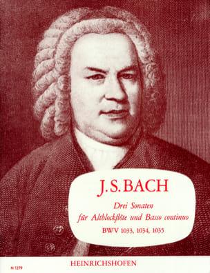 3 Sonaten BWV 1033, 1034, 1035 BACH Partition laflutedepan