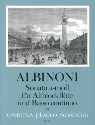 Sonata in a-moll - Altblockflöte u. Bc ALBINONI Partition laflutedepan