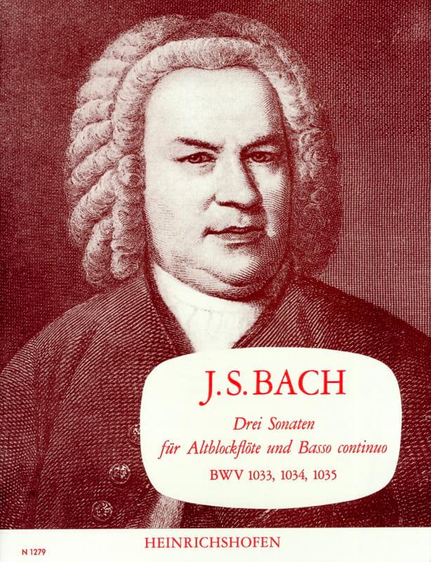 3 Sonaten BWV 1033, 1034, 1035 - BACH - Partition - laflutedepan.com