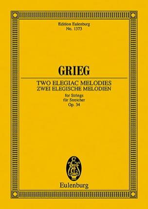 2 Elegische Melodien, Opus 34 GRIEG Partition laflutedepan