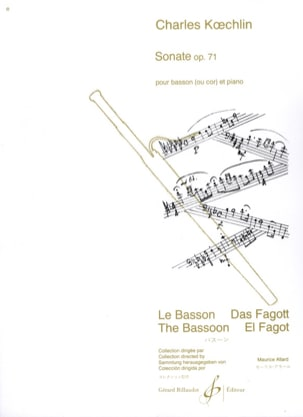 Sonate Op. 71 - Charles Koechlin - Partition - laflutedepan.com