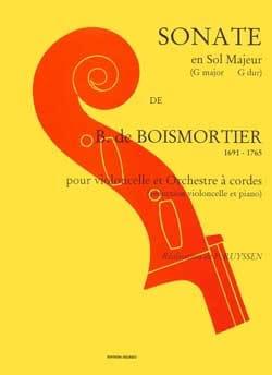 Sonate en sol majeur BOISMORTIER Partition Violoncelle - laflutedepan