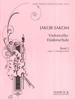 Violoncelle Etüden-Schule Heft 3 Jakob Sakom Partition laflutedepan