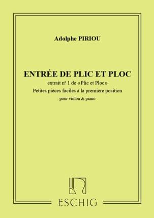Plic et Ploc n° 1 : Entrée de Plic et Ploc, op. 35 laflutedepan