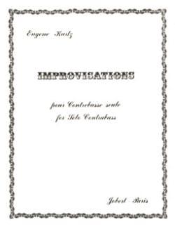 Improvisations Eugène Kurtz Partition Contrebasse - laflutedepan