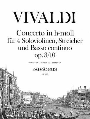 Concerto En Si Min.Op. 3 N° 10 - Rv.580 VIVALDI Partition laflutedepan
