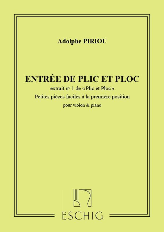 Plic et Ploc n° 1 : Entrée de Plic et Ploc, op. 35 - laflutedepan.com