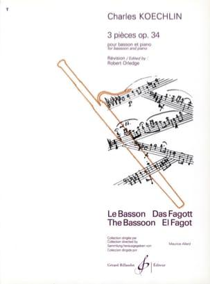 3 Pièces op. 34 - Basson Charles Koechlin Partition laflutedepan