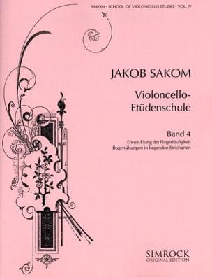 Violoncello Etüden-Schule, Heft 4 Jakob Sakom Partition laflutedepan
