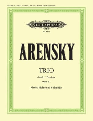 Trio d-moll op. 32 - parties Anton Stepanovitch Arensky laflutedepan
