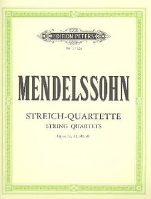 Streichquartette op. 12, 13, 80, 81 -Stimmen MENDELSSOHN laflutedepan
