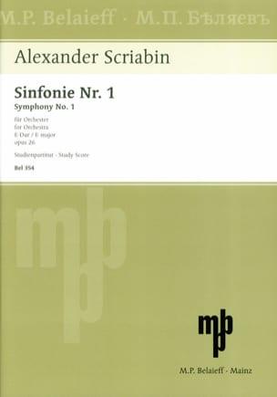 Symphonie Nr. 1 E-Dur op. 26 - Partitur SCRIABINE laflutedepan