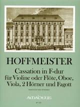 Cassation in F-Dur -Violine Flöte Oboe Viola 2 Hörner Fagott - Part. + St. laflutedepan