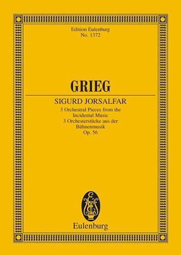 3 Orchesterstücke, op. 56 - GRIEG - Partition - laflutedepan.com