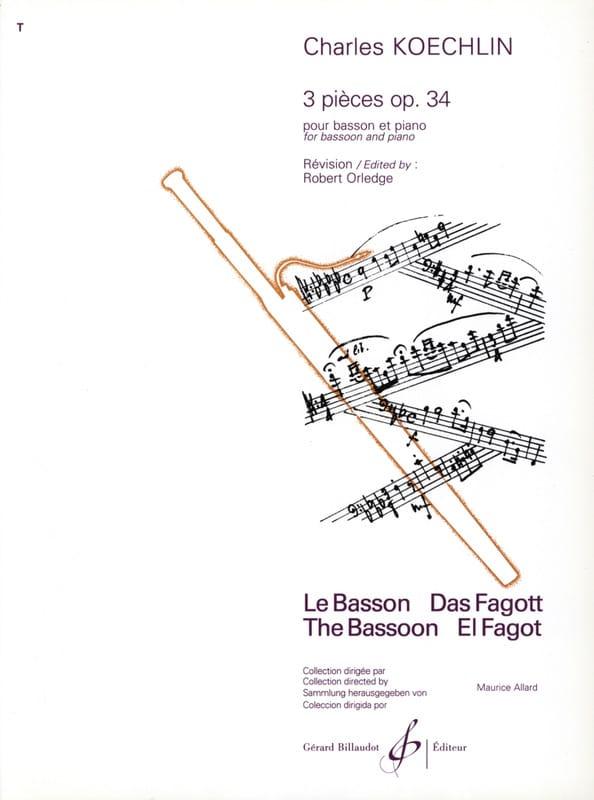 3 Pièces op. 34 - Basson - Charles Koechlin - laflutedepan.com