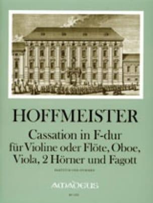 Cassation in F-Dur -Violine Flöte Oboe Viola 2 Hörner Fagott - Part. + St. - laflutedepan.com
