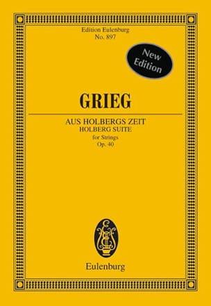Aus Holbergs Zeit, op. 40 - Partitur GRIEG Partition laflutedepan