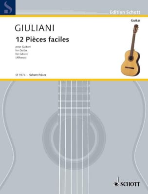 12 Pièces faciles pour guitare Mauro Giuliani Partition laflutedepan