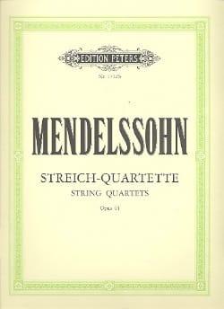 Streichquartette op. 44 -Stimmen MENDELSSOHN Partition laflutedepan