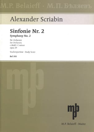 Symphonie Nr. 2 c-moll op. 29 - Partitur SCRIABINE laflutedepan