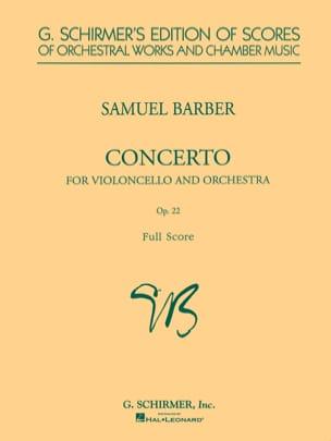 Samuel Barber - Concierto y orquesta de violonchelo op. 22 - Partition - di-arezzo.es