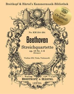 Quatuors à Cordes, op. 18 - BEETHOVEN - Partition - laflutedepan.com