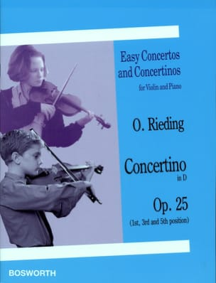 Oskar Rieding - Concertino Opus 25 in D - Partition - di-arezzo.it