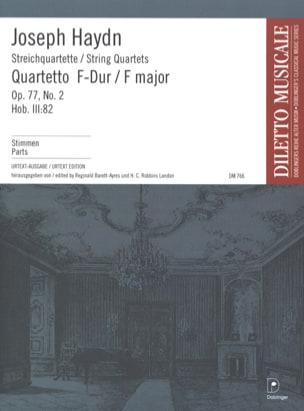 Streichquartett F-Dur op. 77 n° 2 -Stimmen HAYDN laflutedepan
