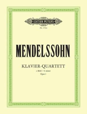 Klavierquartett c-moll op. 1 -Stimmen MENDELSSOHN laflutedepan