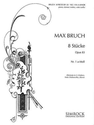 8 Stücke op. 83, n° 1 a-moll -Klarinette Viola Klavier laflutedepan