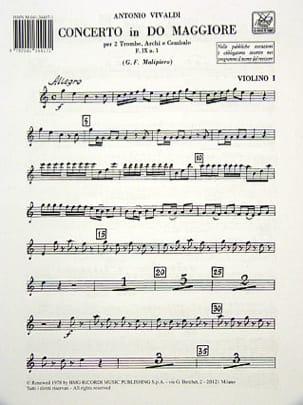 Concerto en Do Maj. - F. 9 n° 1 - Matériel VIVALDI laflutedepan