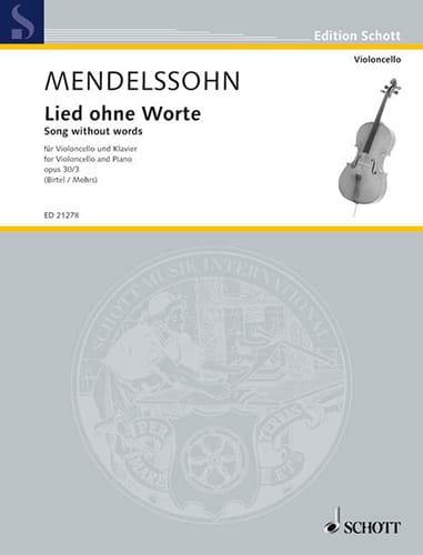 Lied Ohne Worte Opus 30 N°3 - MENDELSSOHN - laflutedepan.com