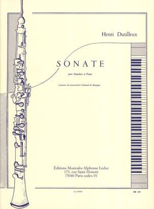 Sonate pour Hautbois et Piano DUTILLEUX Partition laflutedepan