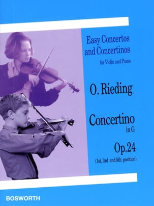Concertino op. 24 en Sol Majeur Oskar Rieding Partition laflutedepan