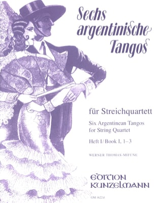 6 Argentinische Tangos, Heft 1 - Streichquartett laflutedepan