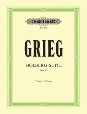 Holberg-Suite op. 40 - Partitur GRIEG Partition laflutedepan