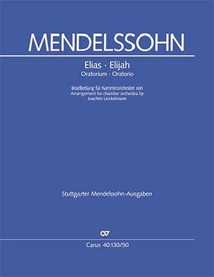 Elias, Oratorio Bartholdy Felix Mendelssohn Partition laflutedepan