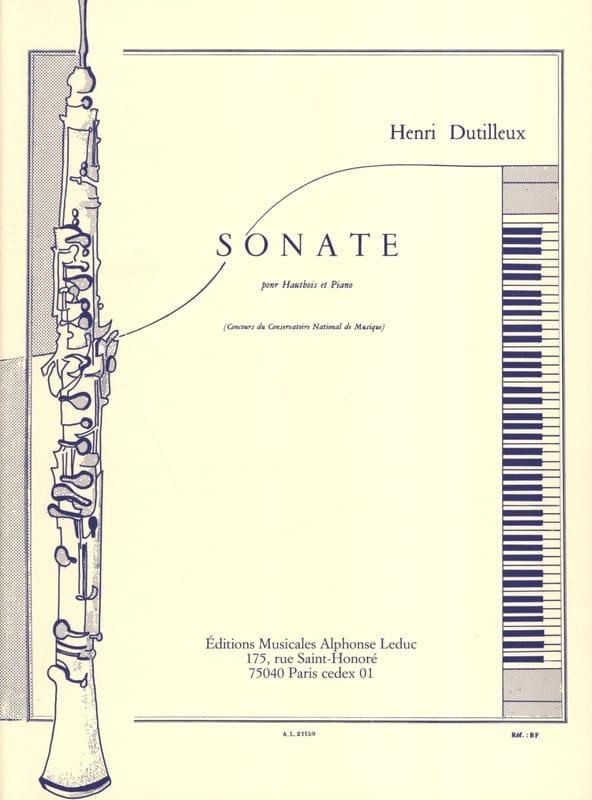Sonate pour Hautbois et Piano - DUTILLEUX - laflutedepan.com
